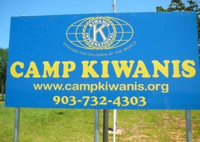 Camp Kiwanis Sign